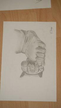Baby, Fuß, Zeichnen, Zeichnungen