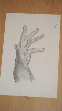 Zeichnung, Bleistiftzeichnung, Hand, Zeichnungen