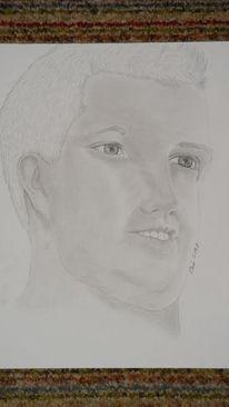 Gesicht, Zeichnung, Mann, Portrait