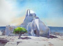 Griechenland, Aquarellmalerei, Aquarell,