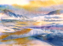Italien, Aquarellmalerei, Bozen, Südtirol