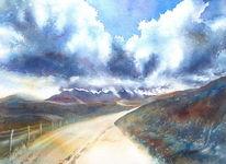 Großbritannien, Isle, Aquarellmalerei, Isle of skye