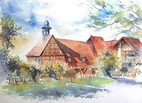 Aquarellmalerei, Bamberg, Lichtenfels, Geschenk