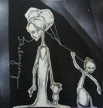 Schwarz weiß, Illustration, Comic, Zeichnungen