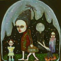 Schneekugel, Clown, Reise, Traum