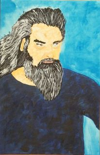 2015, Acrylmalerei, Malerei, Mann