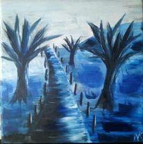 Landschaft, Malerei, Sumpf