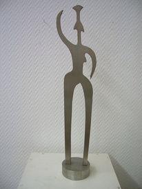 Skulptur edelstahl, Plastik, Gegenständlich