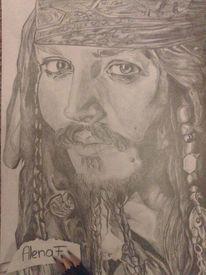 Bleiftift, Jack sparrow, Zeichnen, Jhonny depp