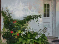 Haus, Blumen, Pflanzen, Elsass