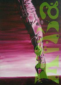 Erotik, Acrylmalerei, Lack, Malerei