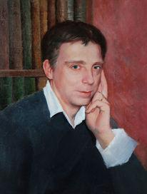 Mann, Ölmalerei, Portrait, Malerei
