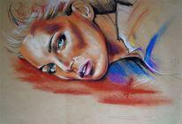 Pastellskizze, Pastellmalerei, Skizze, Zeichnungen