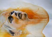 Bleistiftzeichnung, Mischtechnik, Zeichnungen, Portrait