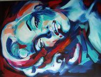 Gemälde, Portrait, Acrylmalerei, Marilyn monroe