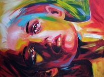 Portrait, Acrylmalerei, Acrylportrait, Candyart