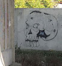 Schädel, Straßenkunst, Fotografie