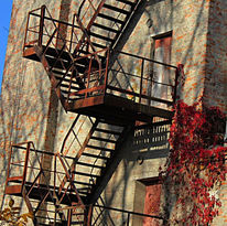 Architektur, Haus, Treppe, Fotografie