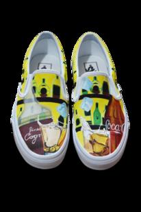 Schuhe, Acrylmalerei, Airbrush, Getränk