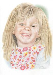 Zeichnungen, Portrait, Kind