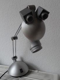 Augen, Kunststoff, Silber, Gesicht