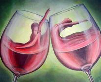 Tanz, Surreal, Wein, Malerei