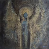 Atmosphäre, Blau, Engel, Malerei