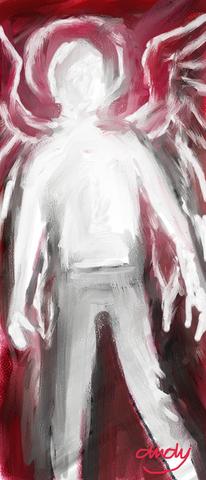 Engel, Digitale kunst, Mann, Digital