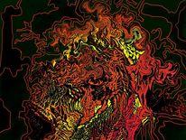 Atmosphäre, Inferno, Brennen, Digitale kunst