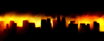 Sonnenuntergang, Inferno, Rot, Digitale kunst