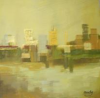 Atmosphäre, Landschaft, Digitale kunst, Stadt