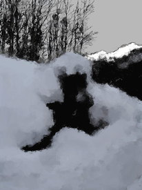 Winter, Digitale kunst, Allgäuer, Digital