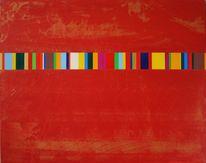 Rot, Gold, Malerei, Abstrakt
