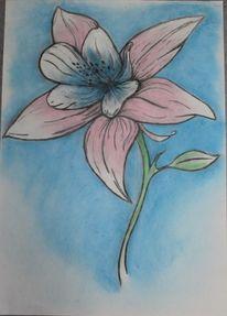 Kreide, Pflanzen, Pastellmalerei, Zeichnung