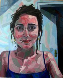 Frau, Ölmalerei, Mädchen, Hartfaser