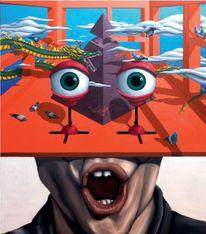 Hartfaser, Ölmalerei, Surreal, Malerei