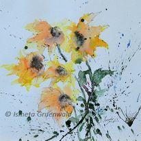 Blumenbilder kaufen, Aquarellmalerei, Blumenmalerei, Blumen kunst