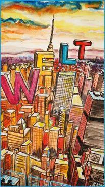Malerei, Welt, Weite