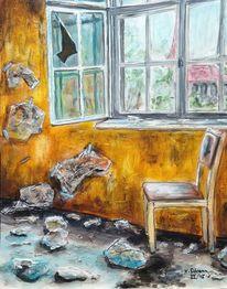 Alt, Verlassen, Verfallen, Haus einsamkeit