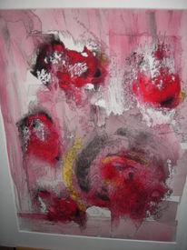 Abstrakt fantasie, Aquarellmalerei, Rot, Aquarell
