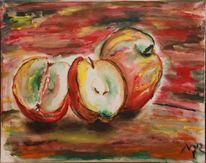 Obst apfel, Malerei, Stillleben, Sucht