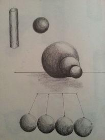 Grau, Kugel, Kreis, Malerei