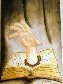 Pastellmalerei, Hand, Fantasie, Buch