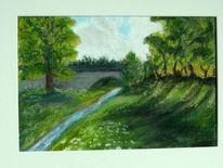 Sommer, Landschaft, Malerei,