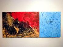 Abstrakt, Schnell, Rahmen, Acrylmalerei