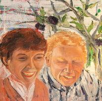 Frau, Holunder, Portrait, Mann