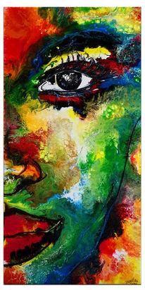 Gesicht, Gemälde, Abstrakt, Handgemaltes