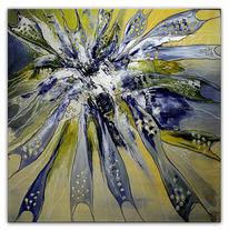 Gelb, Acrylmalerei, Malerei, Silber