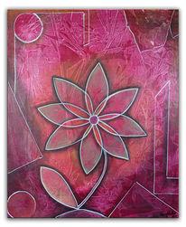 Acrylmalerei, Blumen, Malen, Blumen gemälde