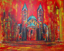 Gemälde, Rot, Malen, Malerei